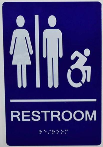 SIGNS Unisex ACCESSIBLE Restroom - ADA Compliant