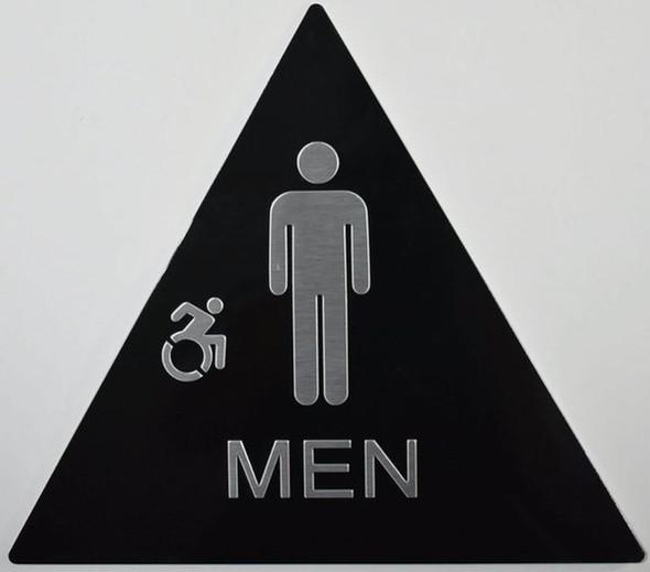 SIGNS CA ADA Men Restroom Sign -Tactile