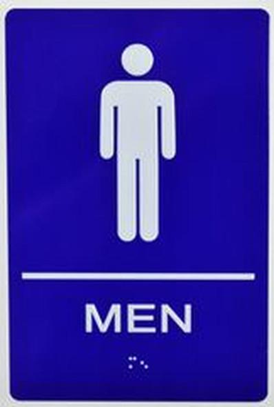 SIGNS Men Restroom Sign -Tactile Signs (Aluminium,