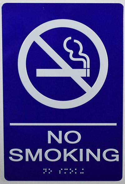 NO Smoking Sign -Tactile Signs