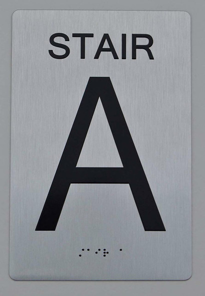 STAIR A ADA Sign -Tactile Signs