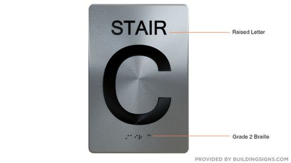 SIGNS STAIR C ADA Sign -Tactile Signs