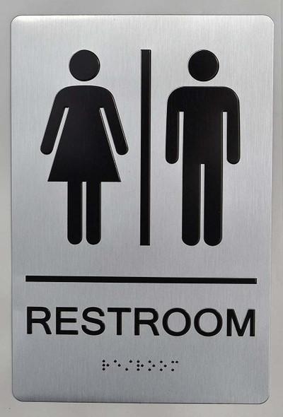 SIGNS UNISEX RESTROOM - ADA compliant sign.