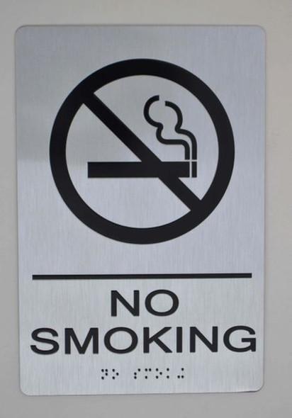 SIGNS NO SMOKING Sign -Tactile Signs (Aluminium,