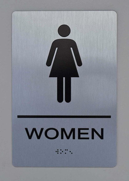 Women ADA Sign -Tactile Signs (Aluminium,