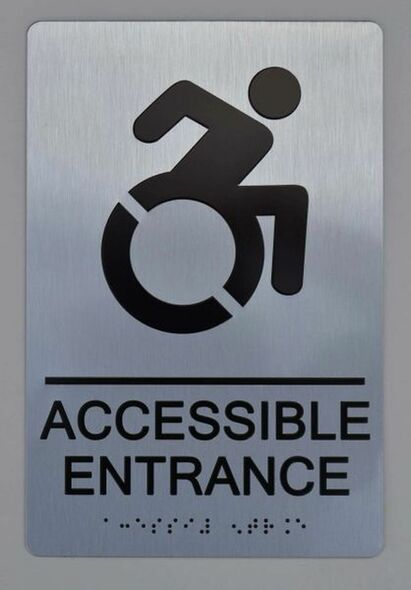 ACCESSIBLE ENTRANCE Sign -Tactile Signs (Aluminium,