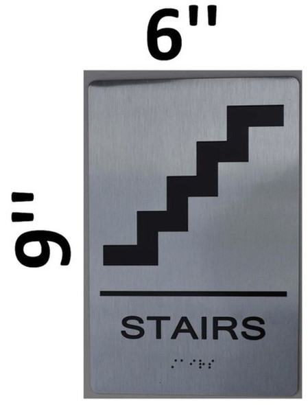 SIGNS STAIRS ADA Sign -Tactile Signs (Aluminium,