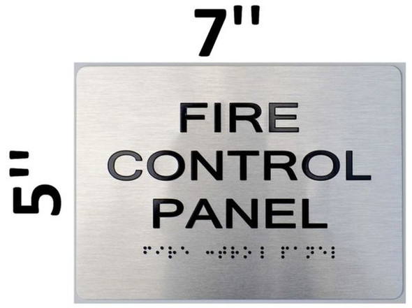 SIGNS FIRE Control Panel ADA Sign -Tactile