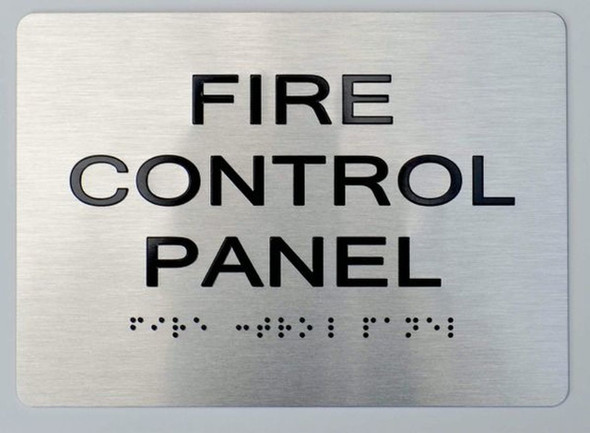 FIRE Control Panel ADA Sign -Tactile