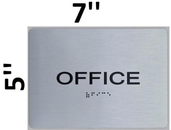 SIGNS Office ADA Sign -Tactile Signs (Aluminium,