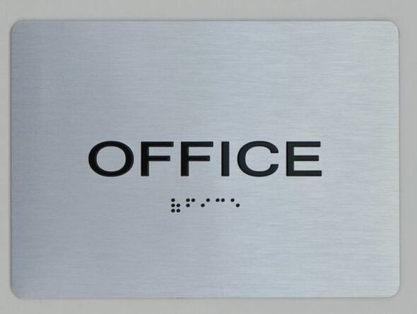 Office ADA Sign -Tactile Signs (Aluminium,