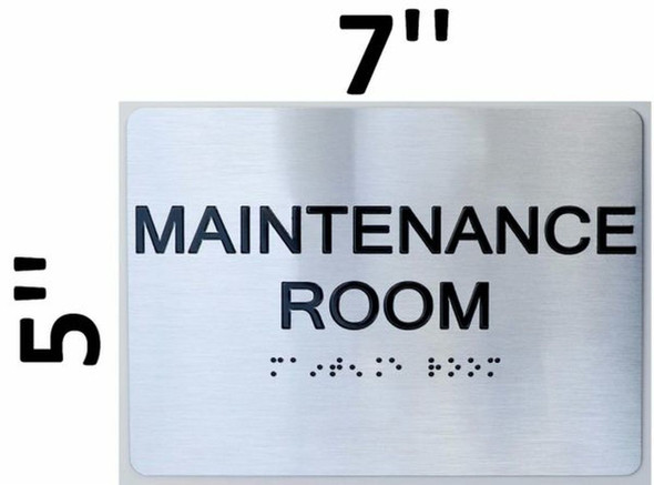 SIGNS Maintenance Room ADA Sign -Tactile Signs