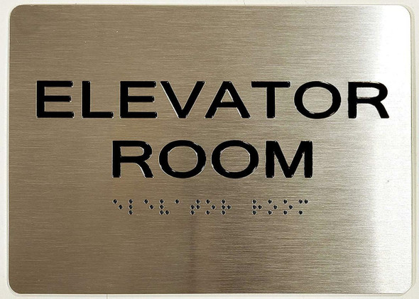 SIGNS Elevator Room ADA-Sign -Tactile Signs (Aluminium,