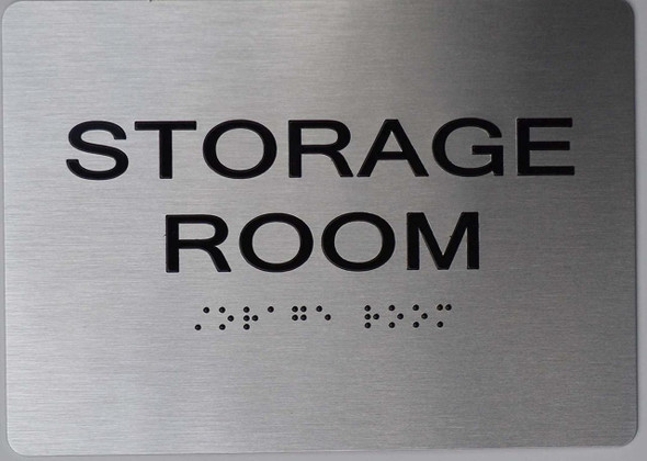 Storage Room ADA Sign -Tactile Signs