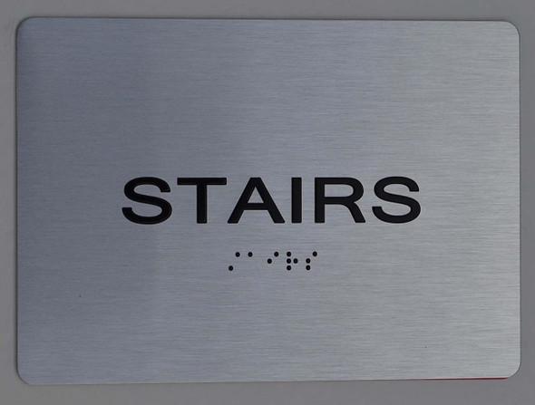 stairs ADA Sign -Tactile Signs (Aluminium,