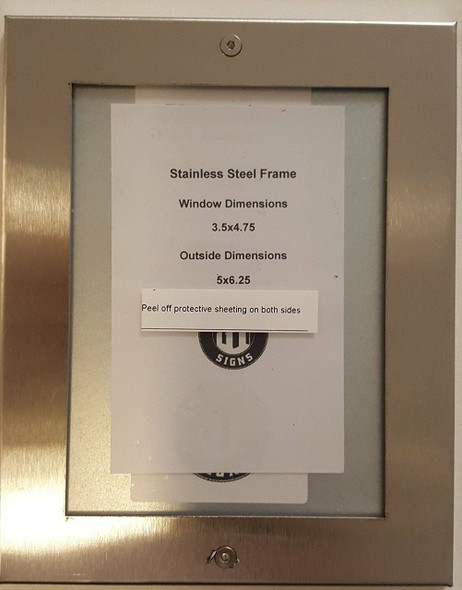 Elevator Inspection Frame 3.5x4.75 stainless Steel-(ref062020)