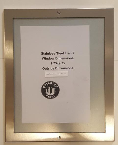 Elevator certificate frame 8x10 stainless Steel-(ref062020)