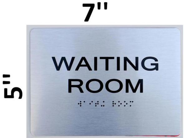 SIGNS Waiting Room ADA-Sign -Tactile Signs (Aluminium,