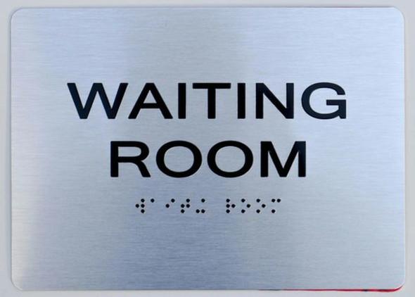 Waiting Room ADA-Sign -Tactile Signs (Aluminium,