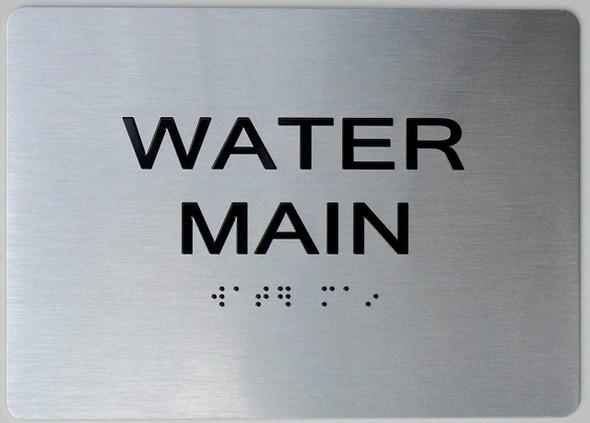 SIGNS Water Main ADA Sign -Tactile Signs