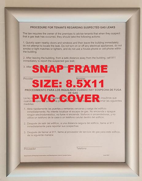 Aluminum Snap Frame for Poster 8.5