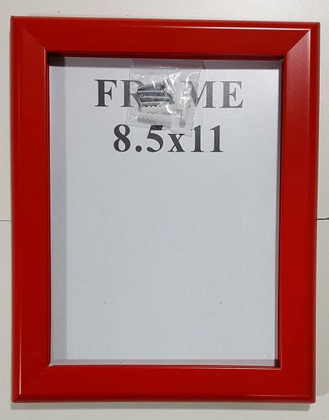SNAP Frame RED 8.5X11 (Heavy Duty)-(ref062020)