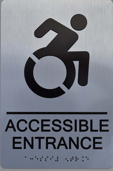 SIGNS NYC Accessible Entrance ADA-Sign -Tactile Signs