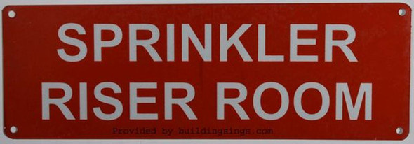SIGNS Sprinkler Riser Room Sign(Aluminium,Reflective Signs, RED