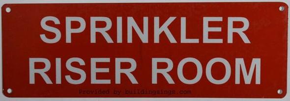 Sprinkler Riser Room Sign(Aluminium,Reflective Signs, RED