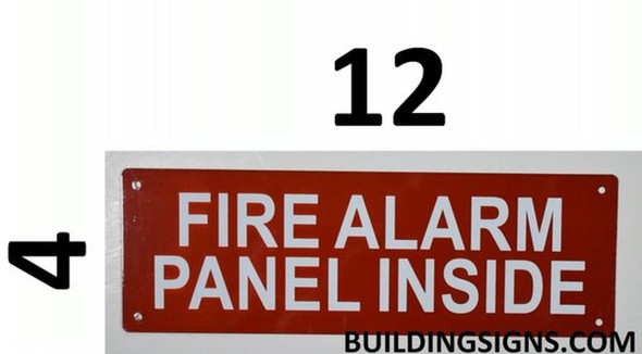 SIGNS FIRE Alarm Panel Inside Sign -