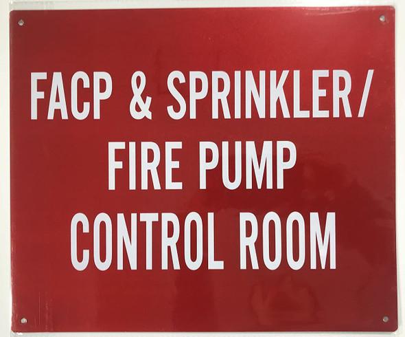 SIGNS Sprinkler FIRE Pump Control Room Sign-