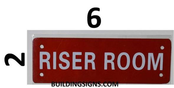 SIGNS Riser Room Sign (Aluminium Reflective !!!,