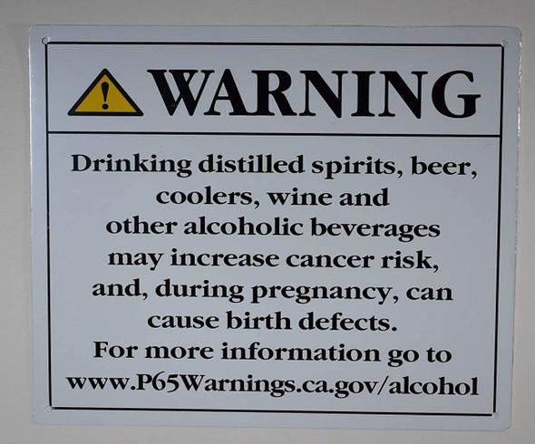 California Prop 65 Alcohol Warning Sign-The