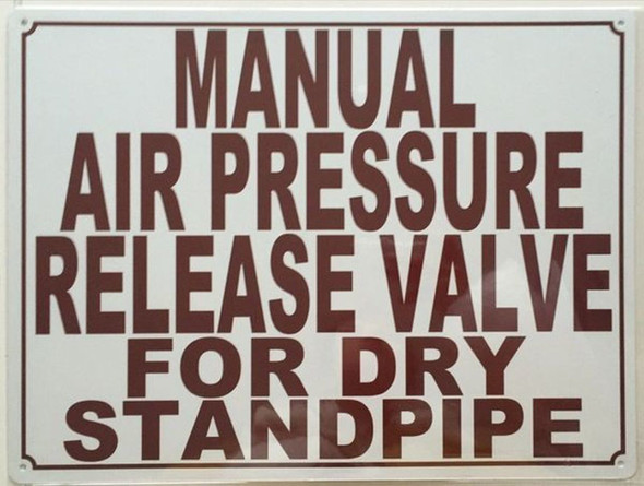 SIGNS Manual AIR Release Valve Sign (White,