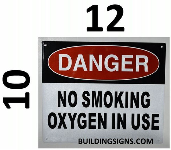 SIGNS Danger NO Smoking Oxygen in USE