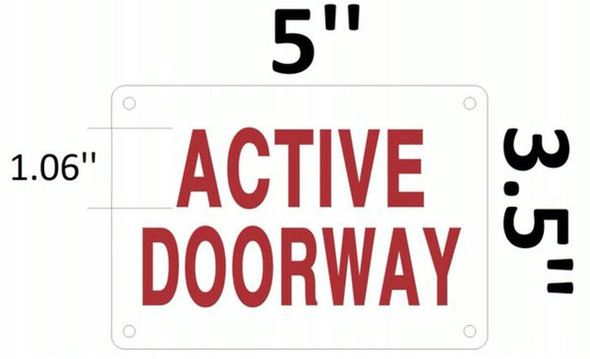 SIGNS Active Doorway Sign (Aluminium Reflective, RED