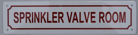 SIGNS Sprinkler Valve Room Sign (Aluminium Reflective