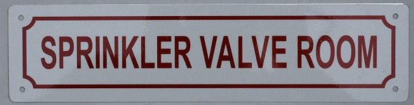 Sprinkler Valve Room Sign (Aluminium Reflective