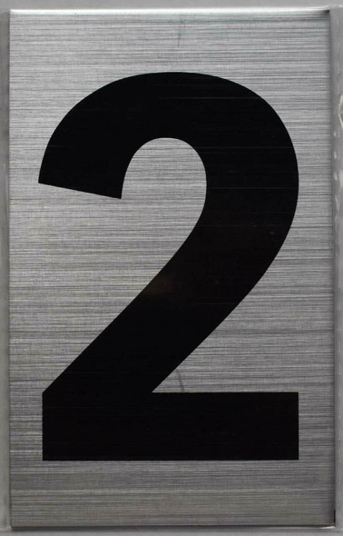 Apartment Number Sign Two (2) (Brush