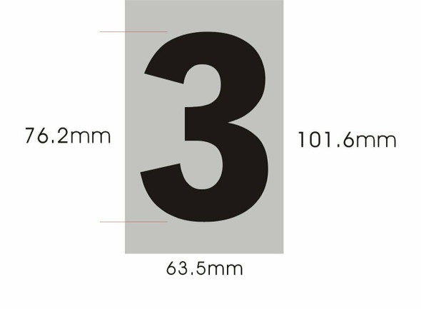 SIGNS Apartment Number Sign - Three (3)(Brush