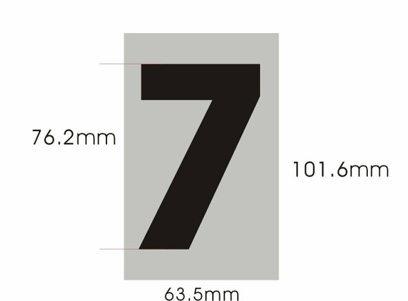 SIGNS Apartment Number Sign - Seven (7)