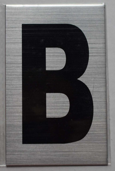 Apartment Number Sign - Letter B