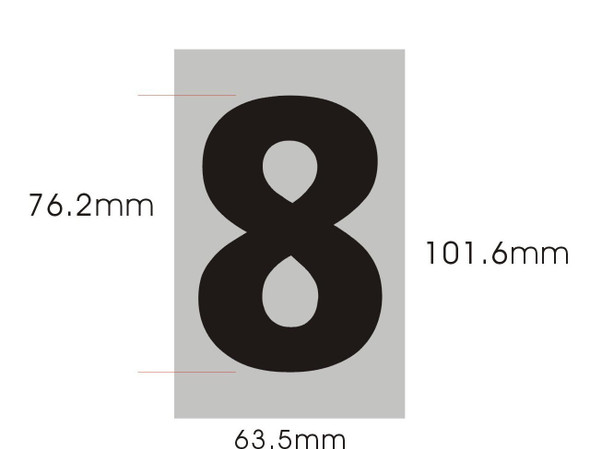 SIGNS Apartment Number Sign - Eight (8)