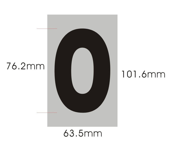 SIGNS Apartment Number Sign - Zero (0)