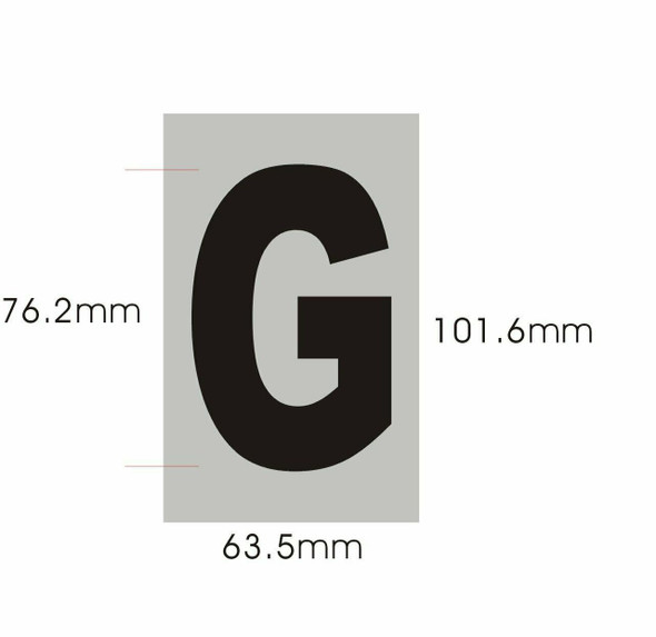 SIGNS Apartment Number Sign - Letter G