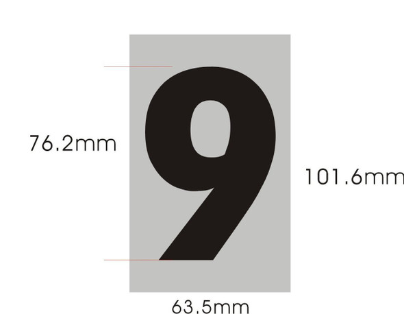 SIGNS Apartment Number Sign - Nine (9)