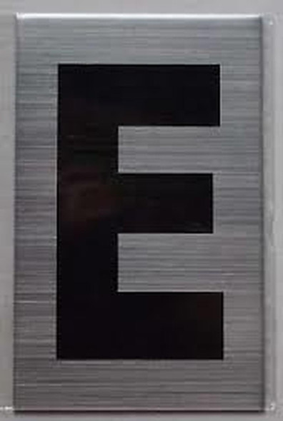 Apartment Number Sign - Letter E