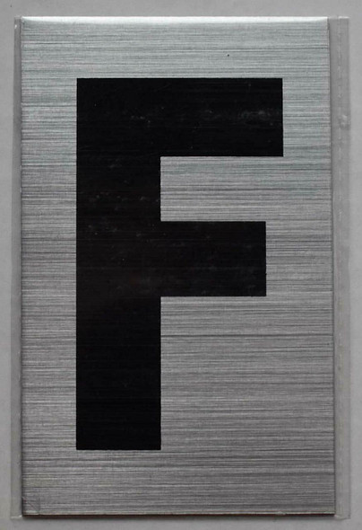 Apartment Number Sign - Letter F