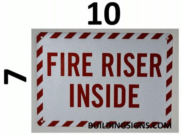 SIGNS FIRE Sprinkler Riser Sign (White, Reflective