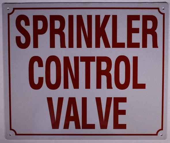 Sprinkler Control Valve Sign (Aluminium Reflective,